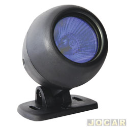 Farol de milha - Autopoli - Universal - redondo - lampada dicr�ica 50w-12V azul - preto - cada (unidade) - AP072