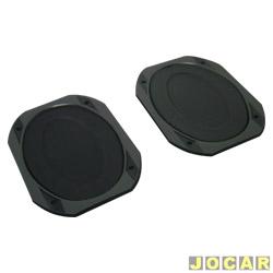 Tela do alto-falante - oval 6x9 - plástica - sem parafuso - preta - par