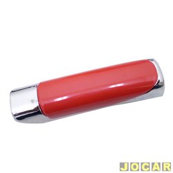 Aplique capa do freio de mão - Shekparts - vermelha e cromada - autoadesivo - cada (unidade) - 03002