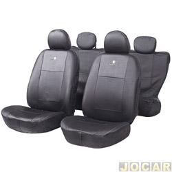 Capa para banco - Car Fashion - em couro reconstitu�do-assentos dianteiro/traseiro - preto - jogo - 6000