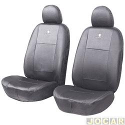 Capa para banco - Car Fashion - em couro reconstitu�do-pick-up-assentos dianteiros - preto - par - 8004