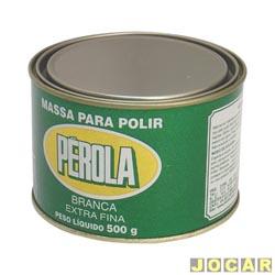 Massa de polir - Pérola - n°2 - extra fina - 500g - branca - cada (unidade) - 040502