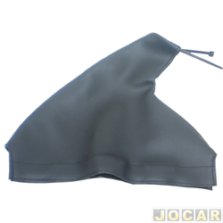 Coifa da alavanca do freio de mão -  universal - couro preto - cada (unidade)