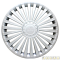 Calota aro 14 - Grid - universal de encaixe modelo europa - prata - cada (unidade) - 068AR-PTA-U