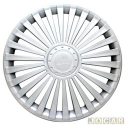 Calota aro 14 - Grid - universal de encaixe modelo europa - prata - cada (unidade) - 068