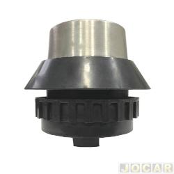 Cubo para volante - Wega - Corcel II/Belina II/Pampa/Del Rey 1978 até 1997 - prata escovado - veja descrição detalhada - cada (unidade) - WP-108