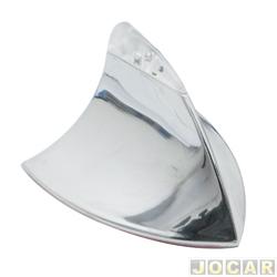 Antena do teto - Mod. Tubarão - iluminada - vermelha/cromada - auto-adesiva - cada (unidade)