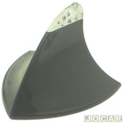 Antena do teto - traseira - Mod. Tubarão - iluminada -verde/preta - adesiva - cada (unidade)