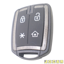 Controle para alarme - P�sitron - PX44 - PR 2009 - preto e prata - cada (unidade) - PX44