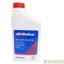 Óleo do motor - ACDelco - SAE 20W/50 API SJ - 1 litro - cada (unidade) - 703286