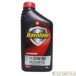 Óleo do motor - Havoline - motor oil superior SAE 20W/50 SJ - cada (unidade) - 703355