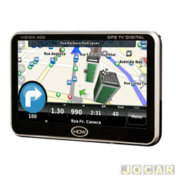 GPS (navegador) - HOW - V400-com TV digital-tela de 4,3 touchscreen - cada (unidade)