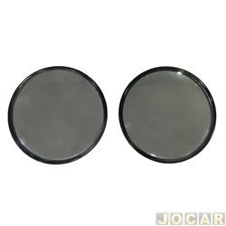 Espelho olho de boi - 75 mm de diametro - par