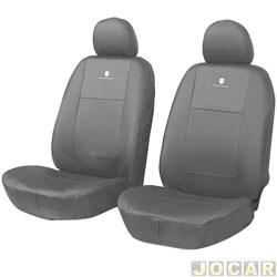 Capa para banco - Car Fashion - em couro reconstitu�do-pick-up -assentos dianteiro - grafite - par - 0091