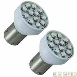 Lâmpada - Autopoli - 2 polos - led com luz branca - pinos diferentes - par - AP241