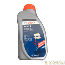 Óleo do freio - Bosch - DOT4 - Ponto de ebulição seco 250° e úmido 170° - 500mL - cada (unidade) - FF4300-0204032339