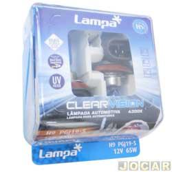 Kit lâmpada do farol - Lampa - H9 12V - Clear Vision - 4300K - jogo - C-P0009W