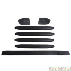 Protetor do para-choque - alternativo - Universal - 7 peças - cola - preto - jogo