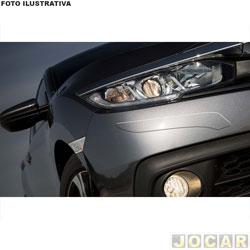 Protetor do para-choque - NP Adesivos - universal - transparente - resinado - auto colante - jogo - 000959