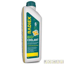 Aditivo para radiador - Radiex - Bio coolant super concentrado - MCT plus amarelo - 1 Litro - cada (unidade) - R-1883