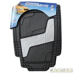 Tapete de PVC - GoodParts - UNIVERSAL - Quadrimat - acabam. central na cor cinza claro - preto - jogo - 70.4048