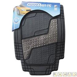Tapete de PVC - GoodParts - UNIVERSAL - Quadrimat - acab.centr. na cor fibra de carbono - preto - jogo - 70.4049