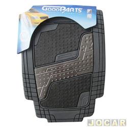 Tapete de PVC - GoodParts - UNIVERSAL-Quadrimat-acab.centr. cor fibra de carb+carp.preto - preto - jogo - 70.4051
