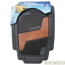 Tapete de PVC - GoodParts - UNIVERSAL-Quadrimat- acab.centr. cor de madeira + carp.preto - preto - jogo - 70.4052