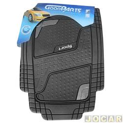 Tapete de PVC - GoodParts - UNIVERSAL-Quadrimat-extrem.cor fibra de carbono+logo Sport - preto - jogo - 70.4054