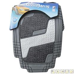 Tapete de PVC - GoodParts - UNIVERSAL- Quadrimat - acab.centr. cor cinza cl.+ carp.preto - cinza - jogo - 70.4055