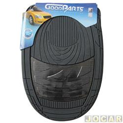 Tapete de PVC - GoodParts - UNIVERSAL - Dune -acabamento central na cor fibra de carbono - preto - jogo - 70.4058