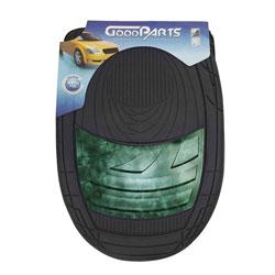 Tapete de PVC - GoodParts - UNIVERSAL - Dune - acabamento central na cor verde manchado - preto - jogo - 70.4060