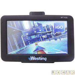 GPS (navegador) - Westing - com tela de 4.3 - sem TV digital - SD/MP3/WMA - cada (unidade) - WT435
