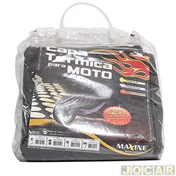 Capa para motos - Maxine - térmica e impermeável (M) - sem cadeado - sem forro - cada (unidade) - 0155
