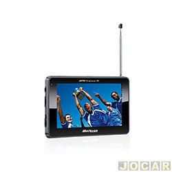 GPS (navegador) - Multilaser - Tracker 2 - tela 4,3 com TV/FM - USB/WMA - cada (unidade) - GP034