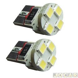 Lâmpada - Megatronic - esmagada grande p/ computador de bordo - 4 leds branca - 12V - par - 007