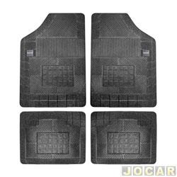 Tapete de borracha - Borcol - Grupo B Milano - (tipo universal - ver detalhes) - 4 pe�as - preto - jogo - 02710041