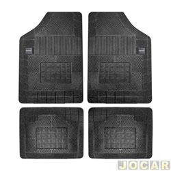Tapete de borracha - Borcol - Grupo C (tipo universal - ver detalhes) - Milano - 4 pe�as - preto - jogo - 02710051