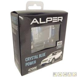 Kit lâmpada do farol - Alper - HB4 - Crystal Blue Power - 4200K - luz branca - jogo - 17119