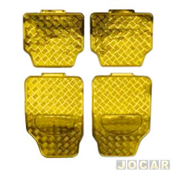 Tapete tuning - importado - universal - dourado - jogo