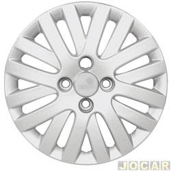 Calota aro 13 - Grid - Gol G5 Trend 2009 - prata - cada (unidade) - 082