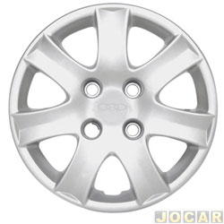 Calota aro 14 - Grid - Peugeot 206 / 207 / 307 - prata - cada (unidade) - 867