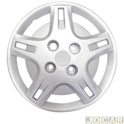 Calota aro 14 - Grid - Fiesta 2002 / Ka / Courier - prata - cada (unidade) - 193