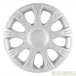Calota aro 14 - Grid - Sandero/Logan 2011 - prata - cada (unidade) - 086
