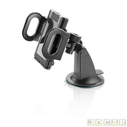 Suporte para celular e GPS - Multilaser - haste ajust�vel de f�cil fixa��o no vidro - preto - cada (unidade) - CP118S