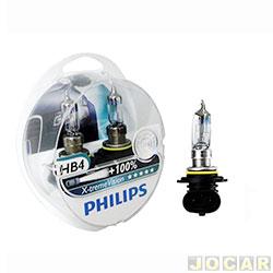 Kit lâmpada do farol - Philips - HB4 (9006) x2 - X-Treme Vision - 100% mais luz - 12V 55W - jogo - 9006HB4XVS2