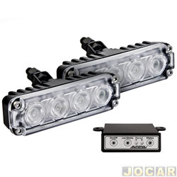 Farol de milha - Autopoli - universal-redondo-lampada dicróica 50w-12V branca - par - Al 214.