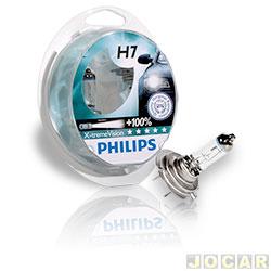 Kit lâmpada do farol - Philips - H7 x2 - X-Treme Vision - 100% mais luz - 12V 55W - jogo - H7-12972XV-CI
