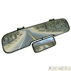 Retrovisor interno - Alternativo - panoramico com lentes duplas - universal - preto - cada (unidade)