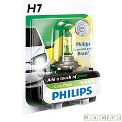 Lâmpada do farol - Philips - H7 - ColorVision Torcida - verde - 60% mais luz - 12V 55W - cada (unidade) - H7-12972_GREEN